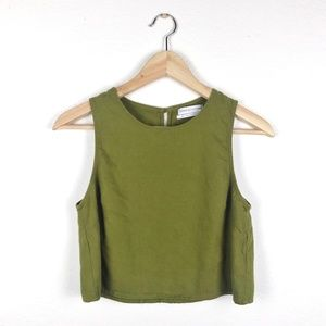 Urban Outfitters Olive Green Crop Top Size M